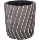 Wooden tub Sorana, D26cm, H28cm, gray